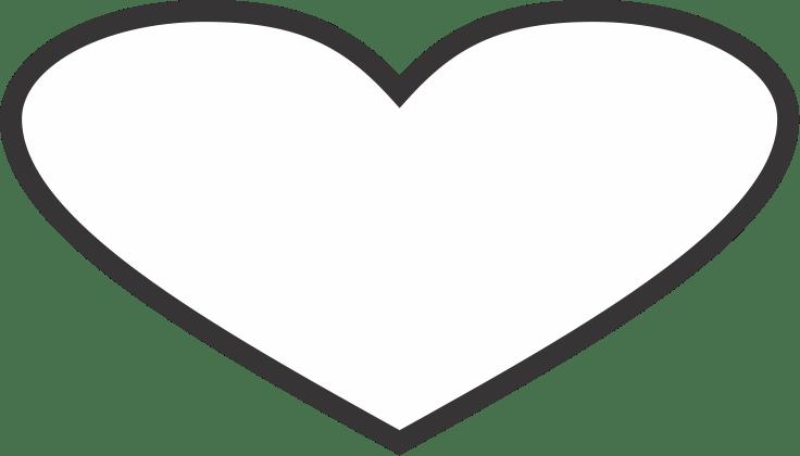 coração branco png