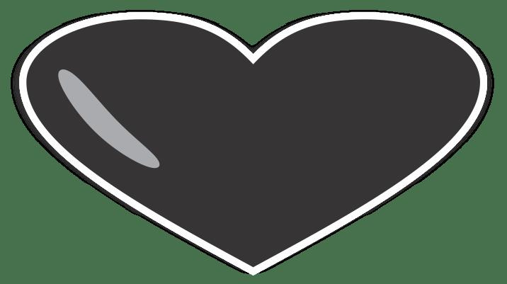coração preto png