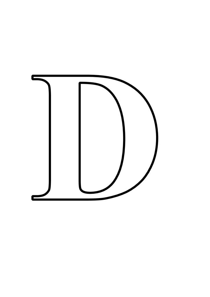 Letras D Para Imprimir