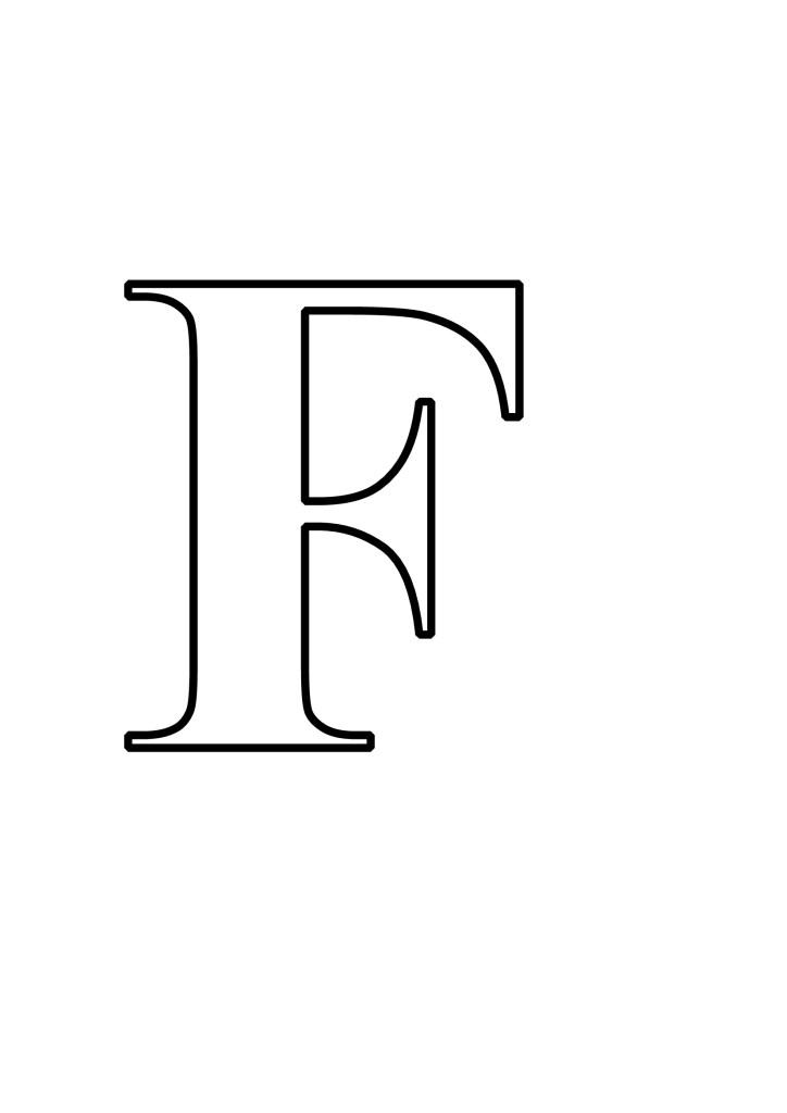 Letras F Para Imprimir