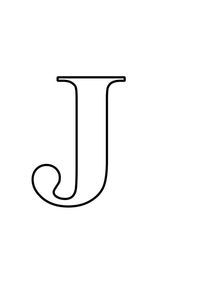 Letras J Para Imprimir