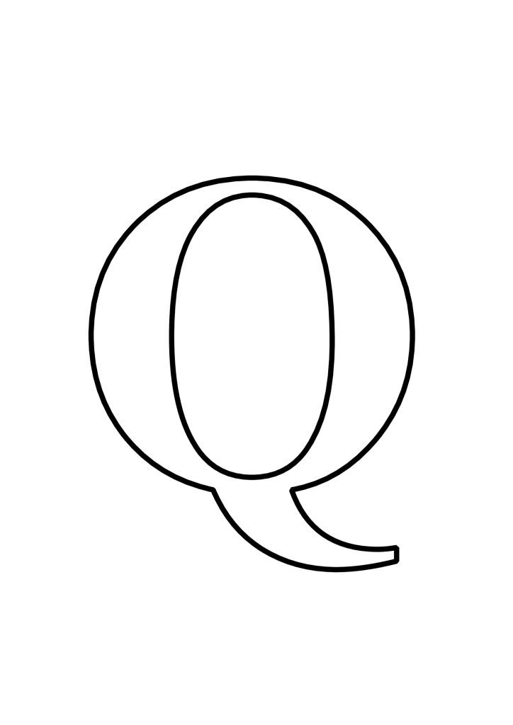 Letras Q Para Imprimir