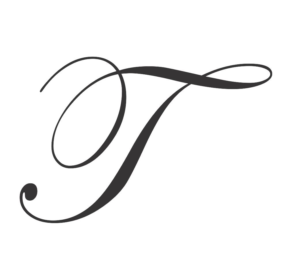 uppercase cursive t