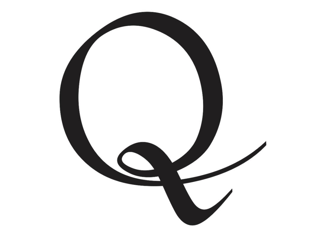 Cursive Capital Q