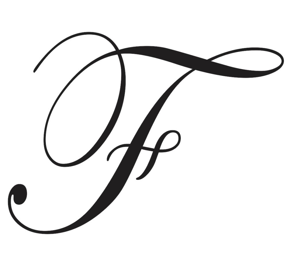 cursive capital f
