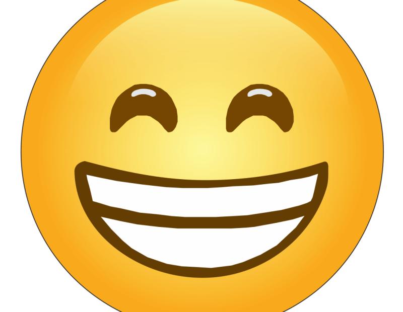 cara radiante con ojos sonrientes