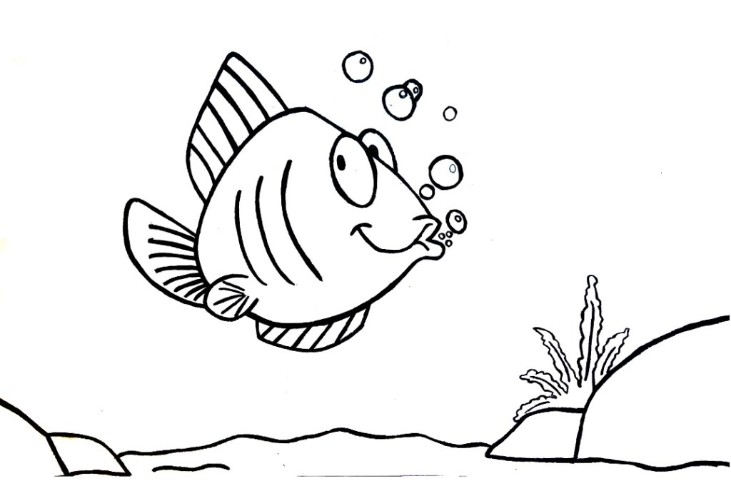 desenho de peixe para colorir