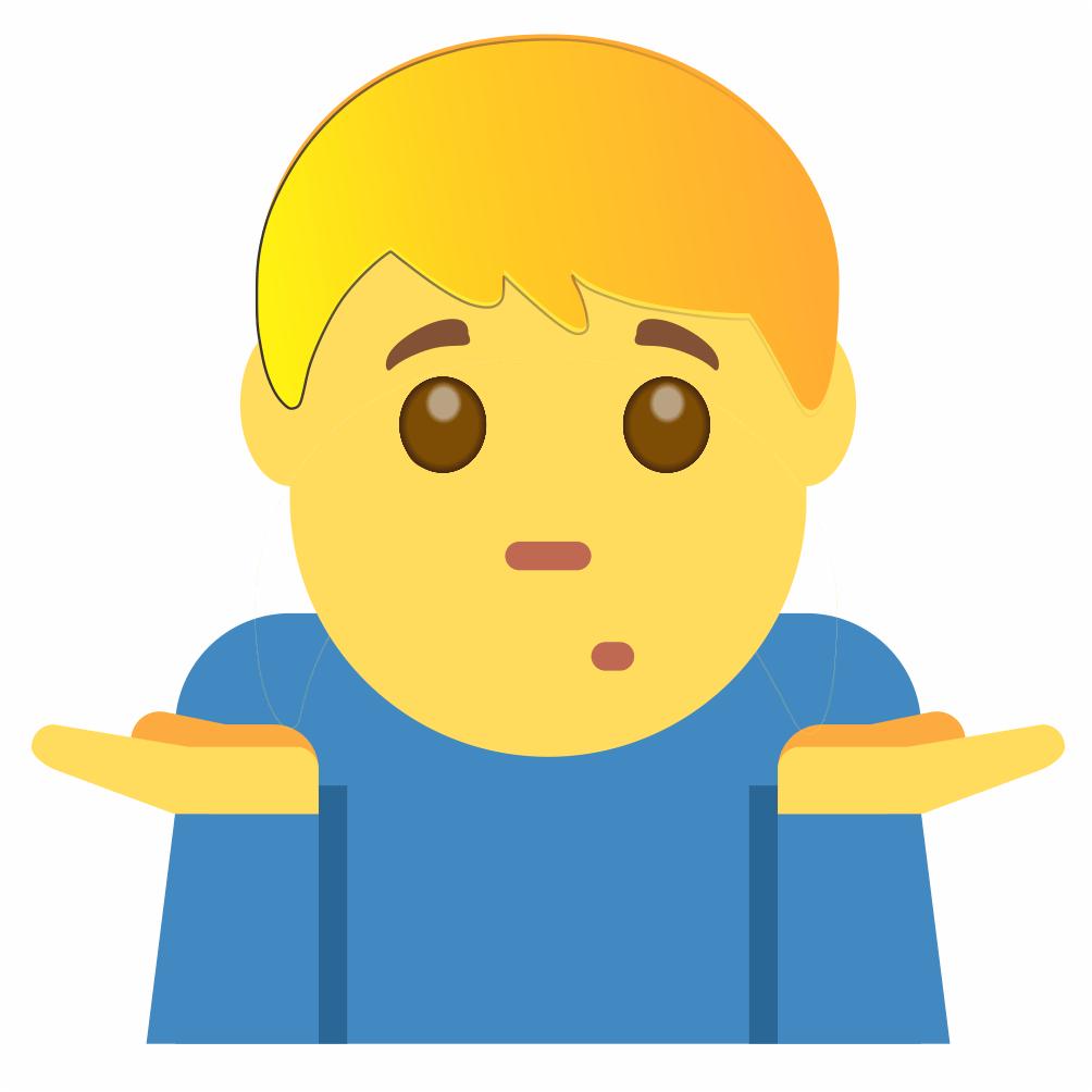 Dar de Ombros Emoji, 🤷♀️,🤷♂️,🤷🏻♀️,🤷🏻♂️,🤷🏼♀️,🤷🏼♂️,🤷🏽♀️,🤷🏽♂️,🤷🏾♀️,🤷🏾♂️,🤷🏿♀️,🤷🏿♂️,¯\_(ツ)_/¯