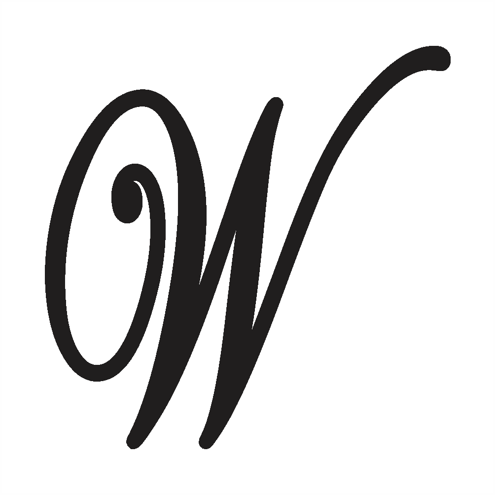 capital letter w in cursive