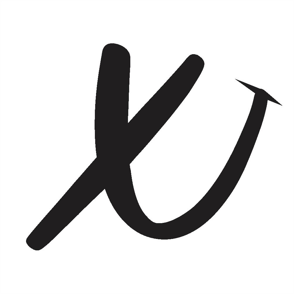 capital x cursive