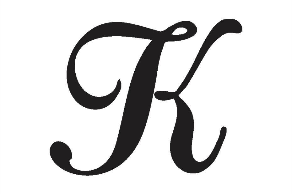 cursive capital k