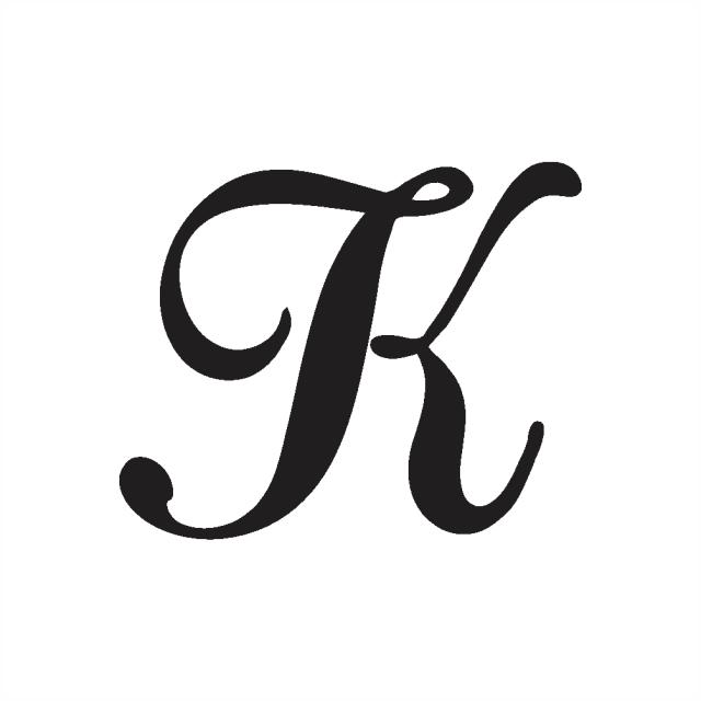 Cursive Capital k – Psfont tk