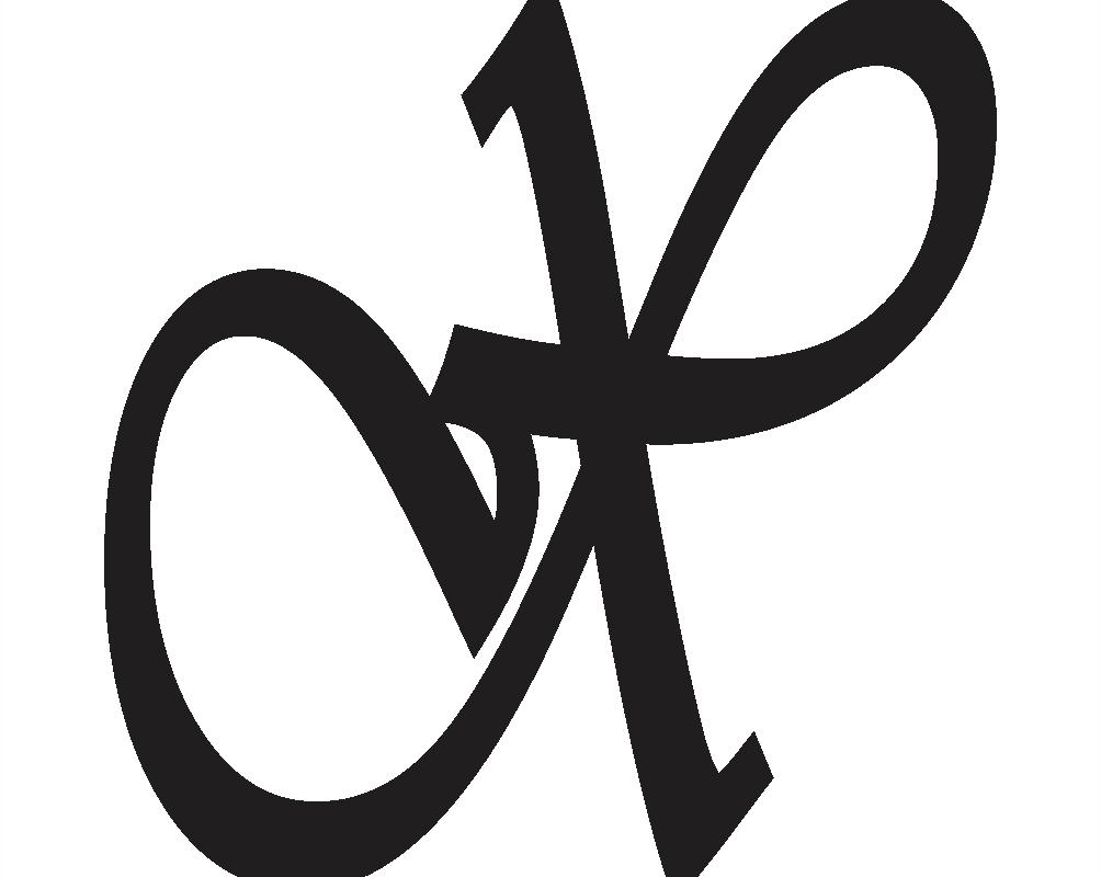 cursive capital x