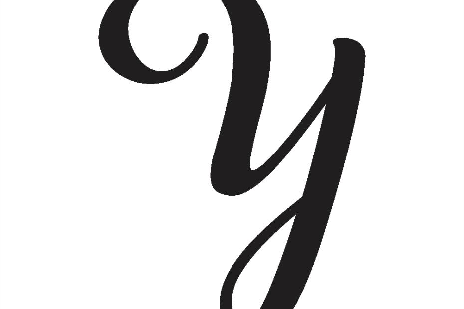 cursive capital y