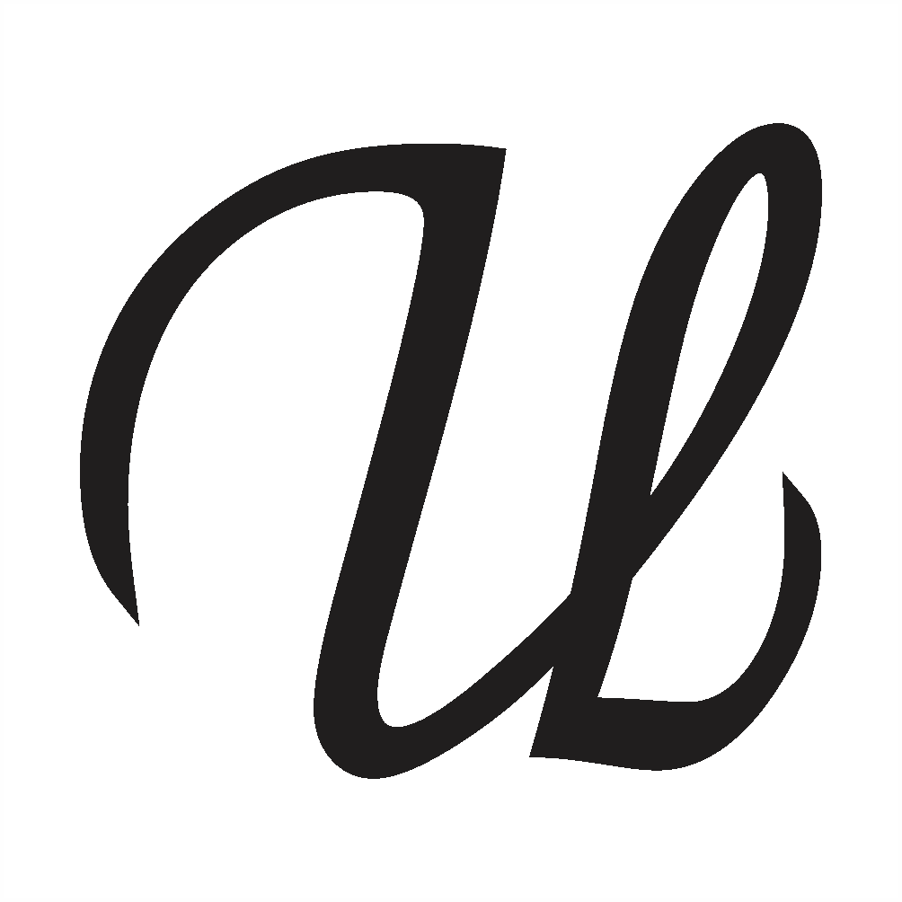 cursive letter u