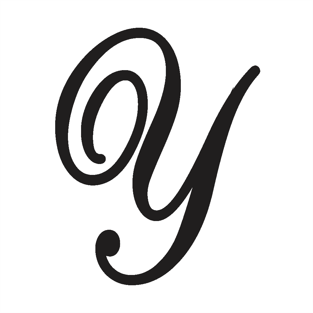cursive uppercase y