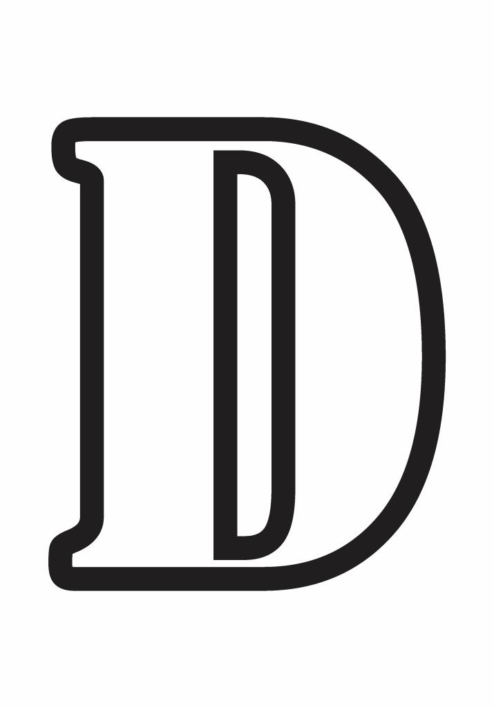 letter d printable, letter d template printable