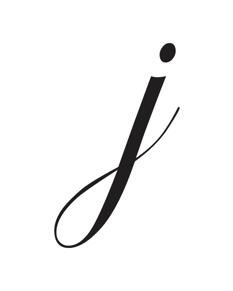 J Cursive, j in Lowercase