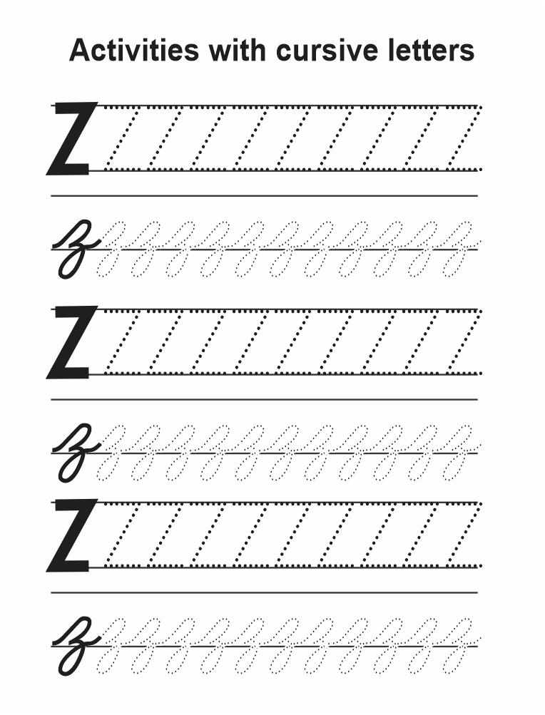 z in cursive