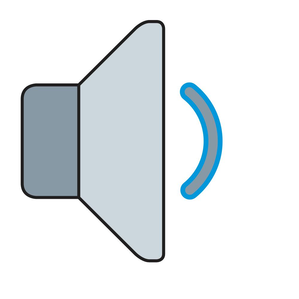 alto-falante volume médio