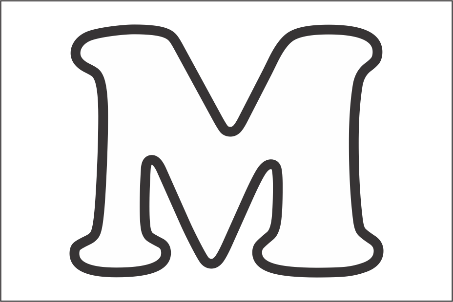 molde da letra m