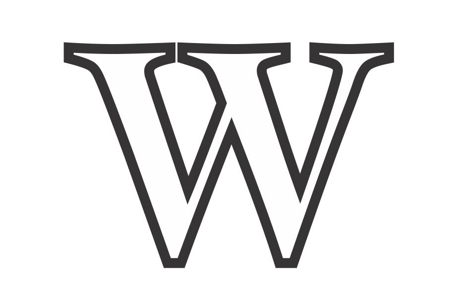 molde da letra w