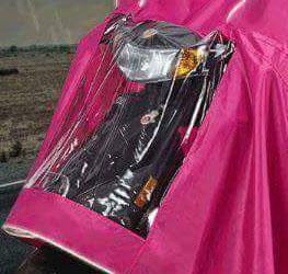 clear front - TWIN RAIN COAT