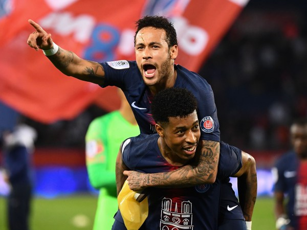 Neymar and Presnel Kimpembe