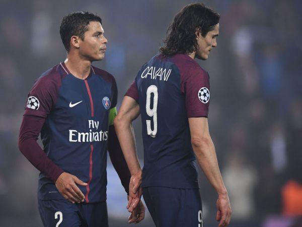 Thiago Silva and Edinson Cavani