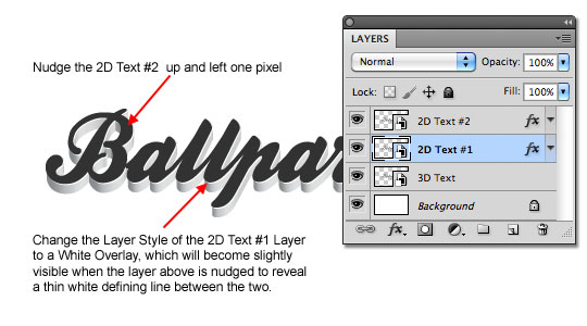 Duplicate and offset the layer then update the Layer Styles