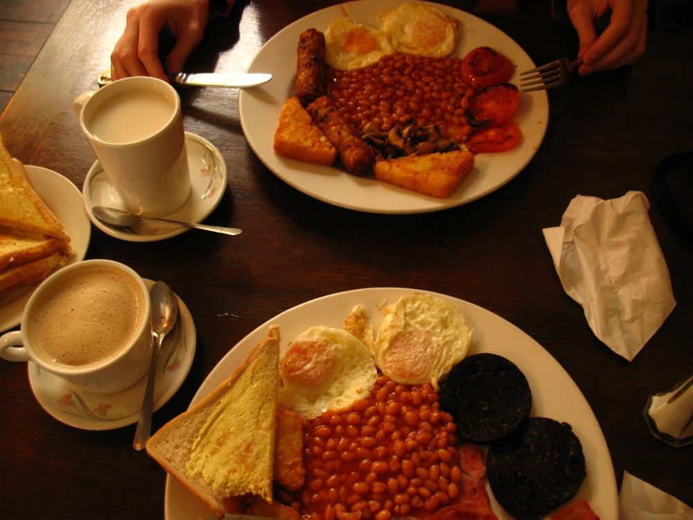 english breakfast w Café Bohemia (2/4)