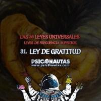 Las 36 Leyes Universales - 31. Ley de gratitud.