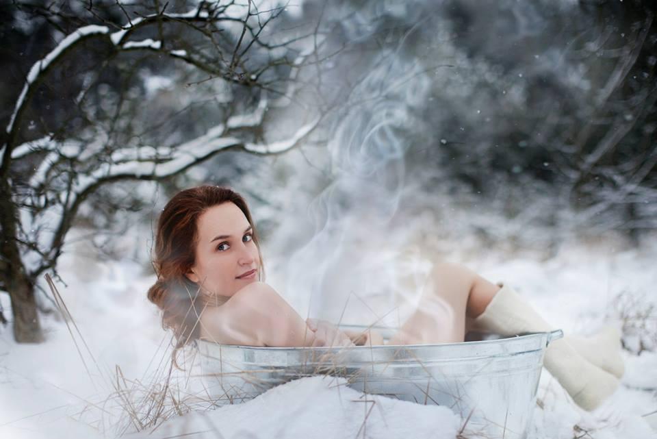 Maudynės žiemą. Inga Miliauskaitė