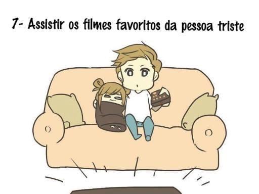 Assistir os filmes favoritos da pessoa triste