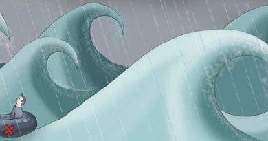depressão como um tormento no mar