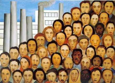 dia do trabalhador quadro operários de Tarsila do Amaral