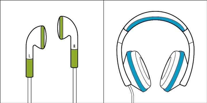 tipo de pessoa, fones de ouvido, fone auricular, headphone