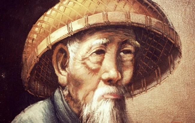 sábio, velho chinês, sabedoria, reflexão
