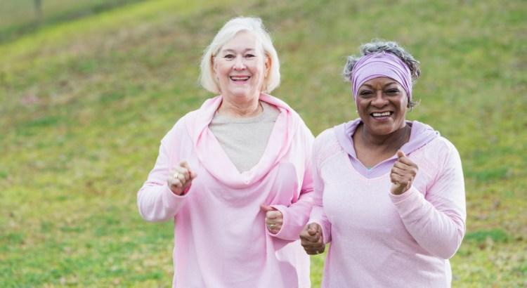 envelhecer, senhoras correndo