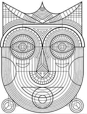 desenhos para colorir antiestresse download - mascara tribal
