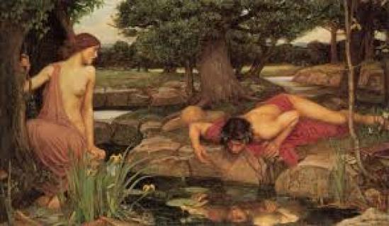 Narciso se encuentra en el lago
