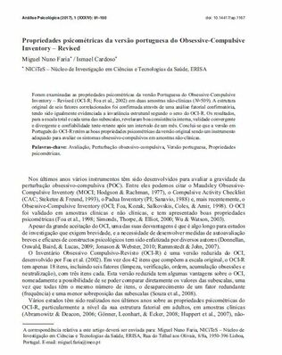 Propriedades psicométricas - Dr. Ismael Cardoso.