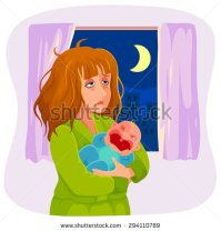 stock-vector-tired-mother-holding-a-crying-baby-at-night-294110789