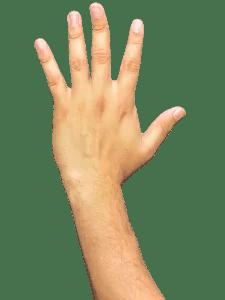 diferenças - até os dedos das mãos são diferentes