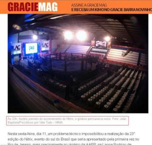 Foto em destaque na Graciemag e em outros portais