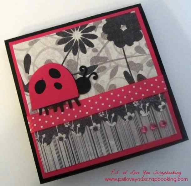Post It Note Holder - I used Walk In My Garden and New Arrival Cricut Cartridges, Bazzill Cardstock and patterned papers to decorate this sticky note holder.