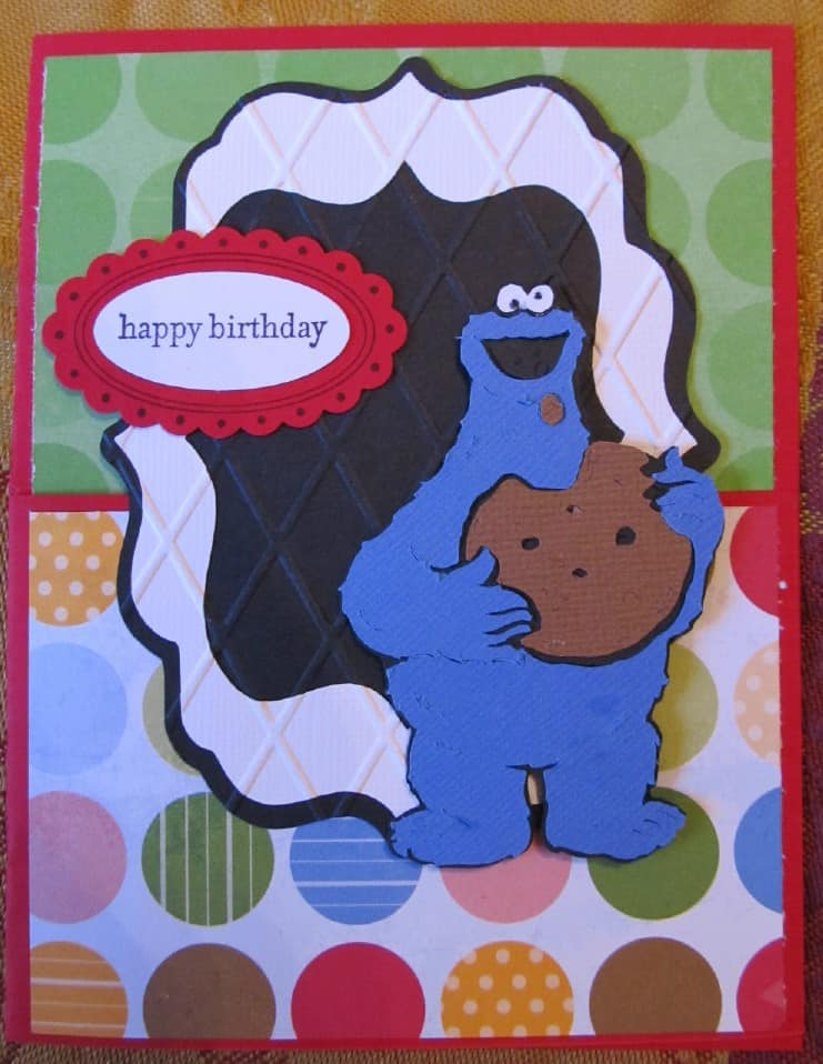 Sesame Street And Friends Cricut Cartridge Cookie Monster Birthday