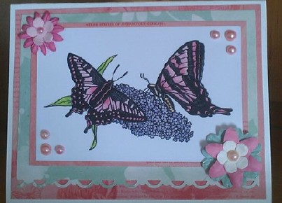 Butterfly Card using image from Delicious Doodles