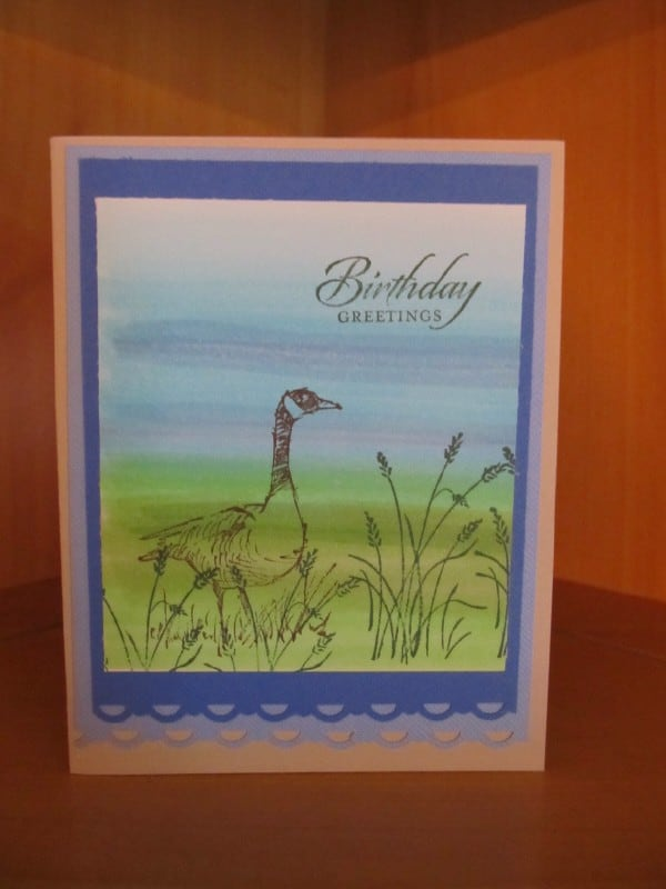 copic background water goose birthday card
