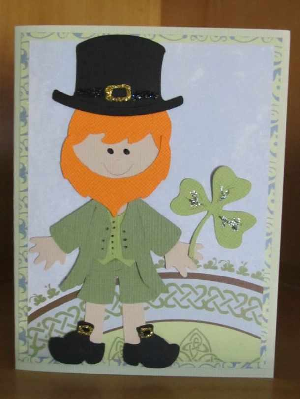 St Patricks Cay card paper doll dress up leprechaun